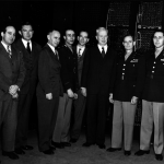 The ENIAC Designers and Developers Stand in Front of the Computer with the United States Military Officials.