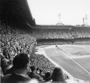Crowd Shot From the First Game of the 1950 World Series at Shibe Park.
