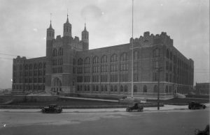 Street View of Overbrook High School in 1926.