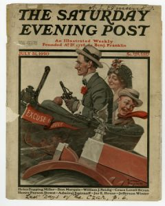A Saturday Evening Post cover by artist Norman Rockwell