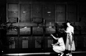 Marlyn Wescoff and Ruth Lichterman Wiring a New Program into the ENIAC>