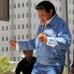 a color photograph of Chubby Checker dancing the twist in 2010