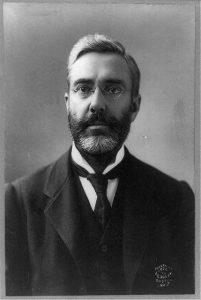 A black and white photograph of Thomas A. Watson