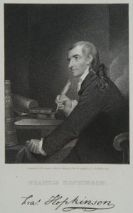 A black and white illustration of Francis Hopkinson