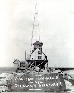 The Delaware Breakwater reporting station creted by the Philadelphia Maritime Exchange