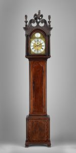 A color photo of a clock made by Edward Duffield.