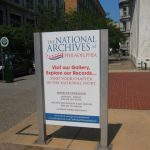 A Street Sign for the National Archives at Philadelphia.