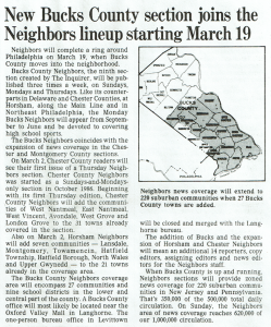 "An Article Explaining the Philadelphia Inquirer Expansion of its ""Neighbors"" Program."