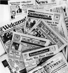 Various Community Centered Newspapers for Philadelphia Neighborhoods.