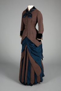 a color image of a late nineteenth century dress.