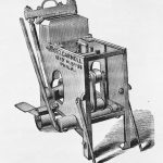Illustration of a brick-pressing machine