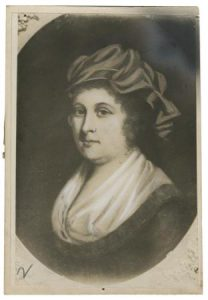 A black and white image of Sarah Clarkson Ralston.
