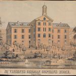 An image of St. Vincent's Orphan's Home on the Delaware River in Tacony, Pennsylvania.