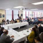 Photograph of meeting between hospital workers and Governor Tom Wolf