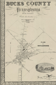 Map of Doylestown in 1850