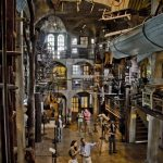 Photograph of interior of Mercer Museum