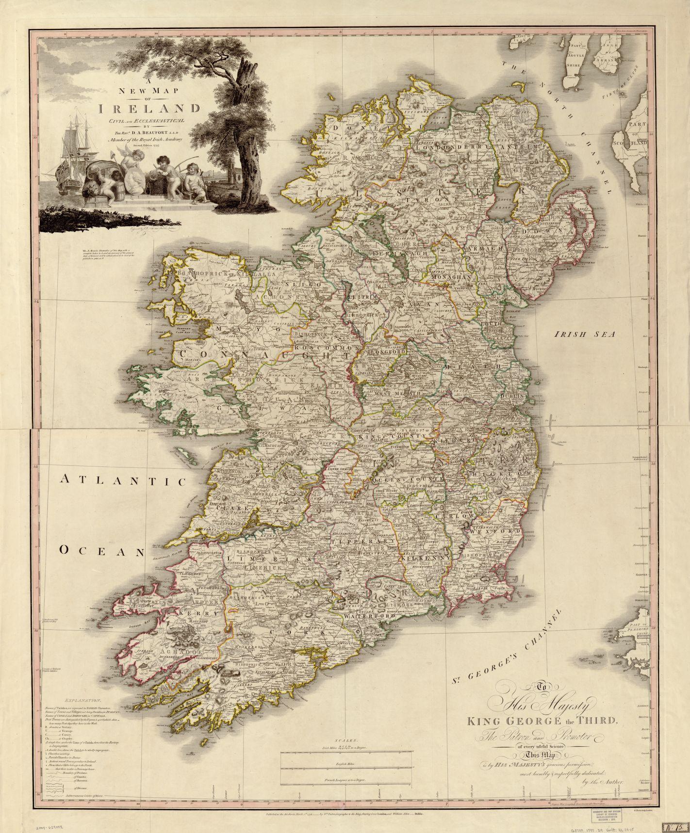 Map Of Ireland 1797