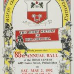 Poster advertising a celebration by the Derry Society
