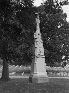 Photograph of a marble obelisk