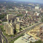 Aerial photograph of Philadelphia General Hospital in 1966