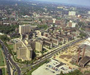 Aerial photograph of Philadelphia General Hospital in 1966