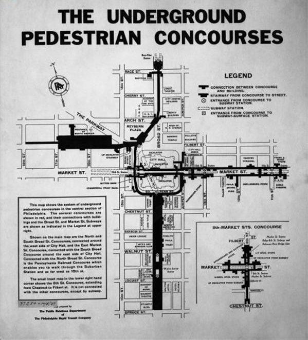 Underground Pedestrian Concourses | Encyclopedia of Greater Philadelphia