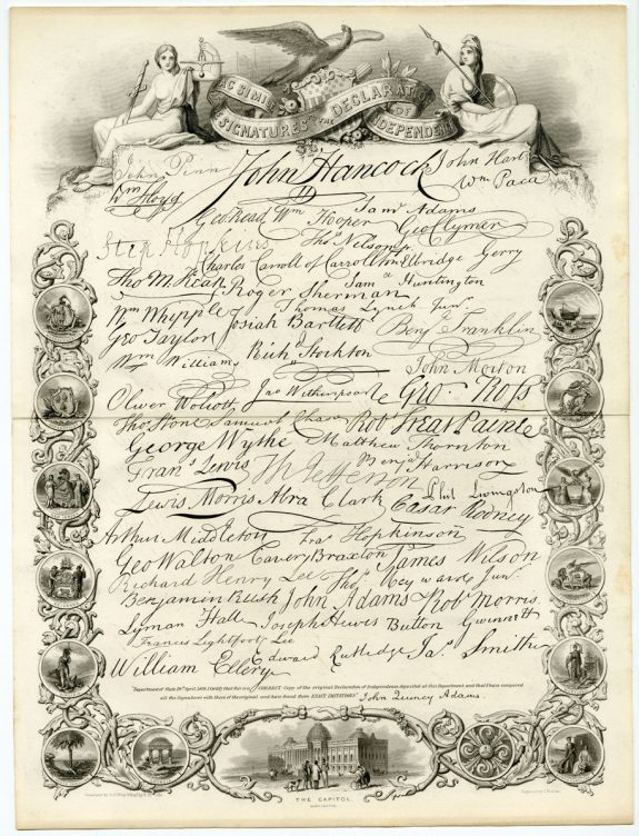picture relating to Printable Copy of the Declaration of Independence referred to as Declaration of Flexibility Encyclopedia of Larger