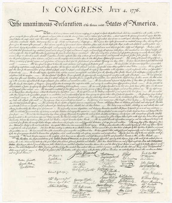 Declaration of Independence | Encyclopedia of Greater