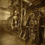 Photograph of machinery in Wanamaker's Department Store basement.
