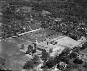 An aerial photograph of William Penn Charter School.