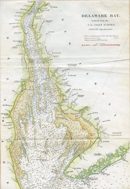 map of delaware bay Encyclopedia Of Greater Philadelphia Delaware Bay map of delaware bay