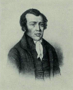 A black and white portrait of Richard Allen.