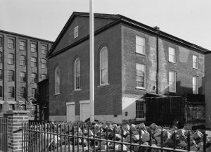 A 1910 photograph of the third church building used by the Old First congregation.