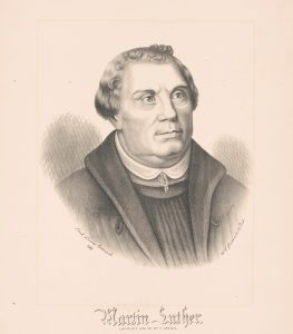 An 1876 print depicting Martin Luther.
