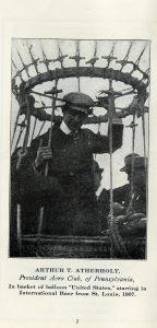 Photograph of Arthur T. Atherholt, President of the Aero Club of Pennsylvania.