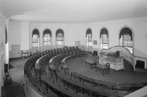 Main floor of Congress Hall, where the House of Representative met.