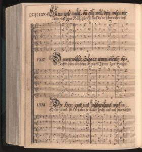 Manuscript hymnal produced by Conrad Beissel.