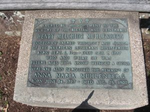 Henry Melchior Muhlenberg's Gravestone at the Augustus Lutheran Church.