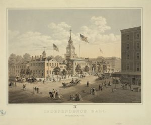 Independence Hall by 1875.