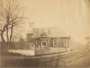 Photograph of the Old Swedes Church.