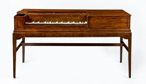 Photograph of a square piano produced by Charles Albrecht.
