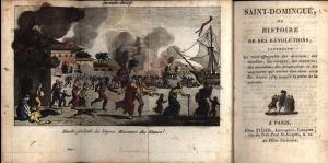 Print depicting the Haitian revolt at the port of Le Cap.