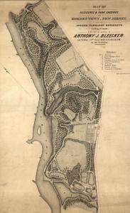 Map of Joseph Bonaparte's estate at Point Breeze.