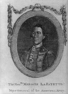 Portrait of Marquis de Lafayette.