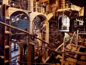 Photograph, taken between 1980 and 2006, of the Mercer Museum interior.